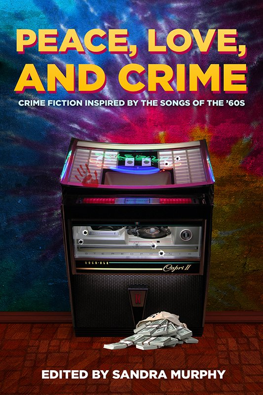 Title, Jukebox with bloody handprint and bullet holes, and a bag of cash on the floor.