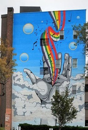 Spirit in the Sky mural