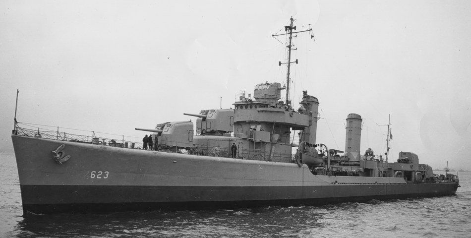 Destroyer USS Nelson at sea