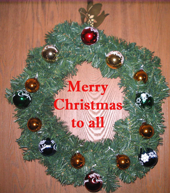 Merry Christmas in Wreath