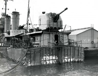 USS Nelson, seaworthy, stern repaired