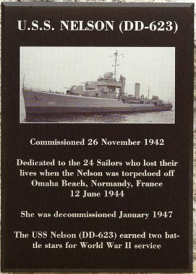 Plaque on USS Nelson