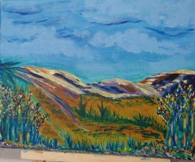 Completed Desert Scene