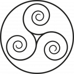 Triskelion, a 3-armed symmetrical spiral